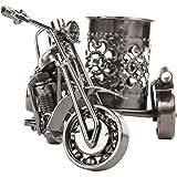 MyGift Motorcycle & Sidecar Pencil Cup, Office Desktop Pen Holder, Gunmetal Gray