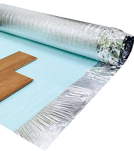 Comfort Silver 3mm Laminate Wood Floor Underlay With Damp Proof