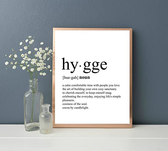 hygge print dictionary art print typography art definition print