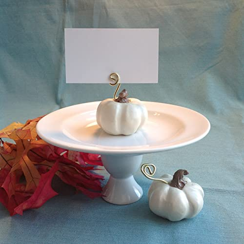 Thanksgiving White Pumpkin Place Card Holders for the Fall Season Table