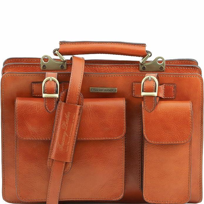 Tuscany Leather 81412694 Tania grande - Bolso Piel Mujer, miel: Amazon.es: Zapatos y complementos