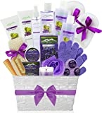 Deluxe XL Gourmet Spa Gift Basket with Essential Oils. 20-Piece Luxury Bath & Body Gift Set with Bath Bombs, Bubble Bath…