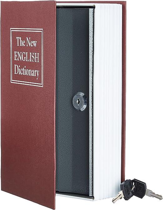 AmazonBasics - Caja de seguridad en forma de libro - Cerradura con ...