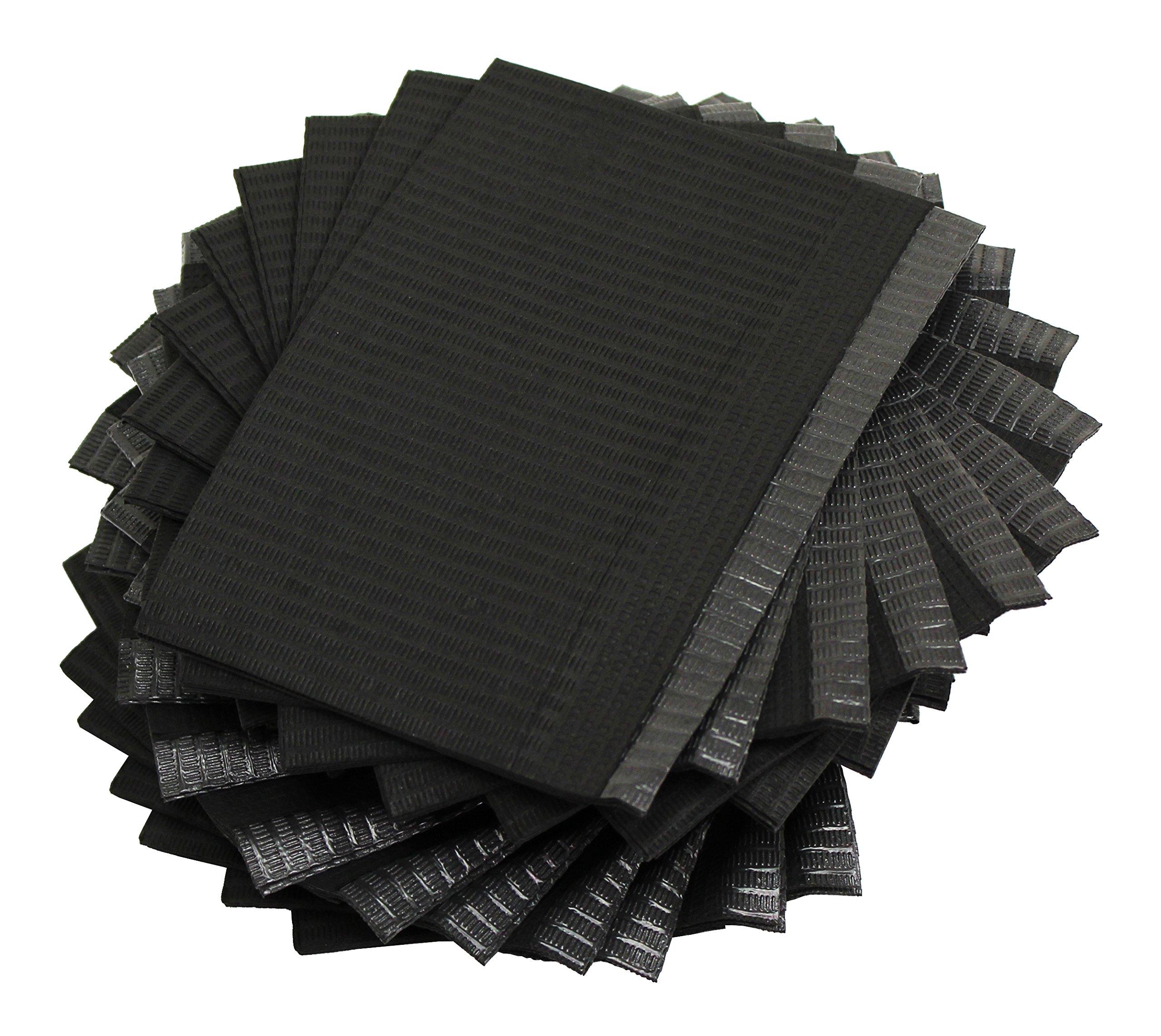 Adenna Dental Bibs/Lap Cloths, Black (Box of 500)