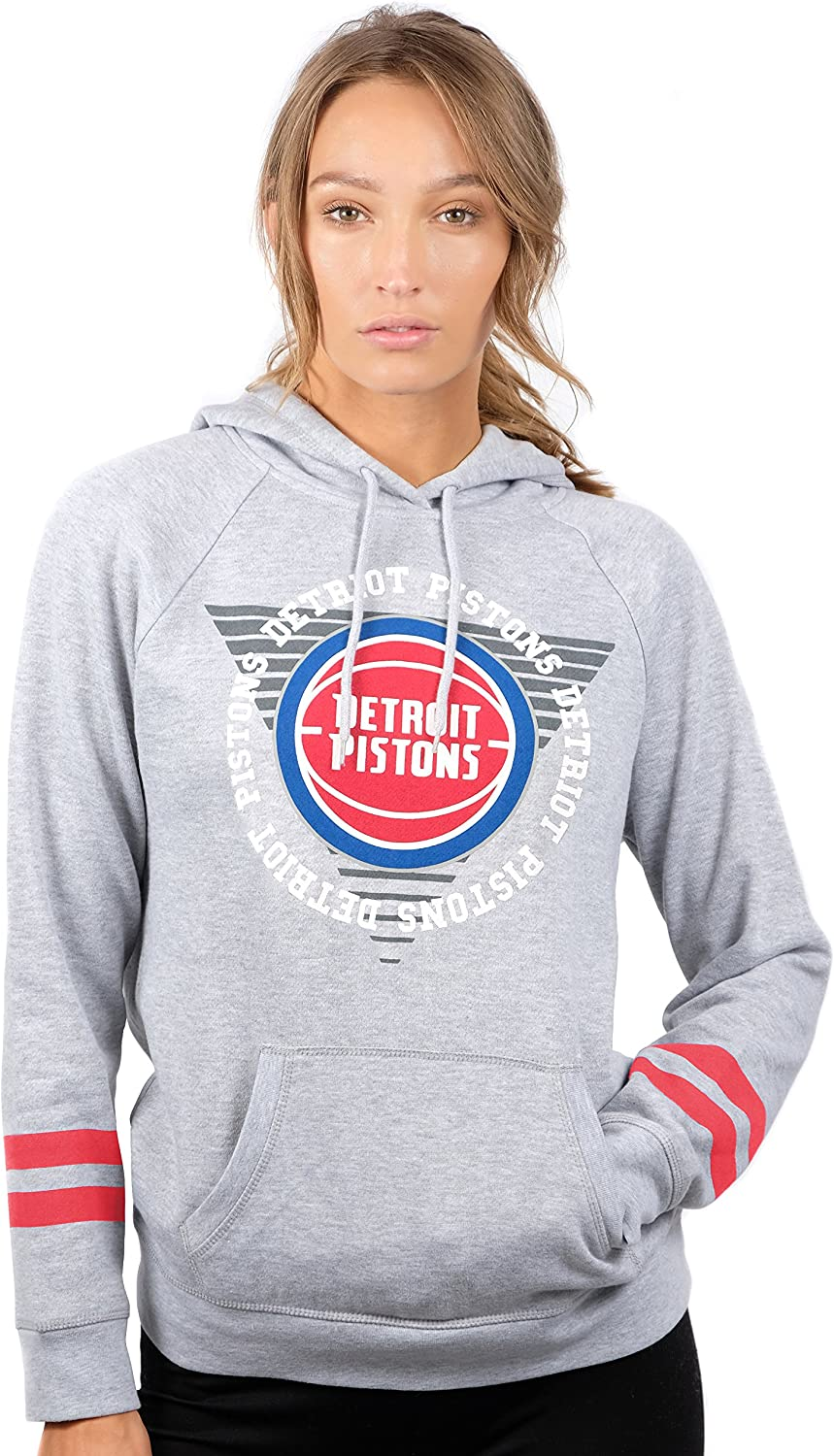 Ultra Game NBA Womens Soft Fleece Pullover Hoodie Sweatshirt with Varsity Stripe