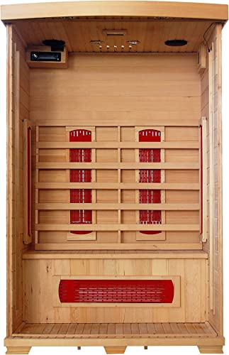 Radiant Saunas BSA2406 2-Person Deluxe Ceramic Infrared Sauna, 1-2