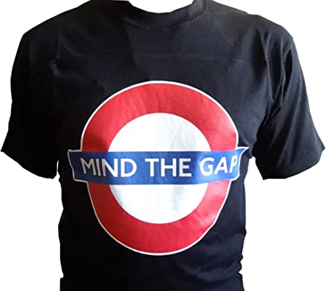 f4dd90167418 London Underground - Mind The Gap T-Shirt (Black) (Small): Amazon.co.uk:  Clothing