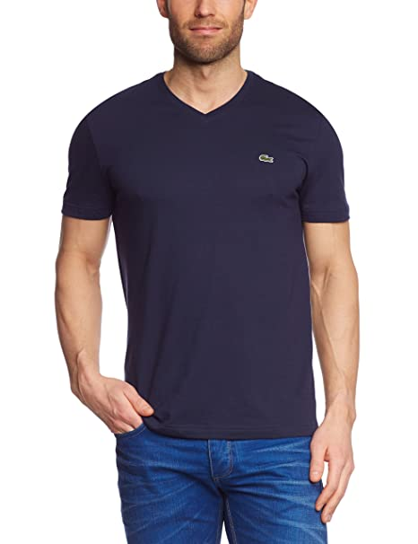 hot products shop for cheap for discount Lacoste Men's V-Neck Regular Fit Short Sleeve T-Shirt