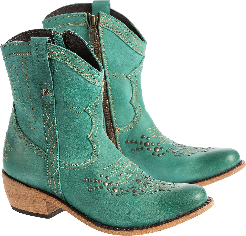 LIBERTY BLACK B072QDSPS9 Women's Leather Cowboy Boots B072QDSPS9 BLACK 7 B(M) US 8e4453