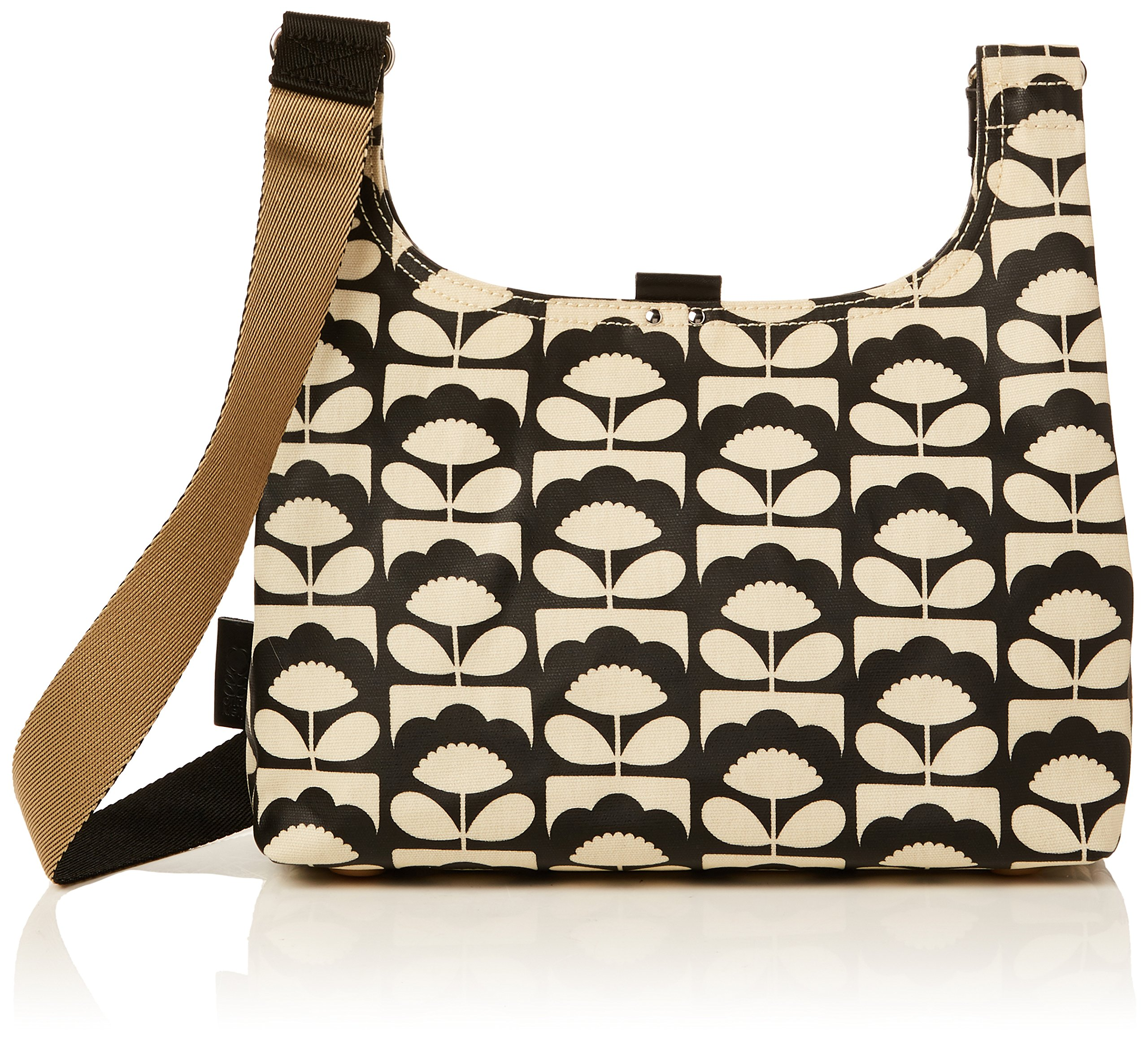Orla Kiely Spring Bloom Mini Sling Bag, Charcoal