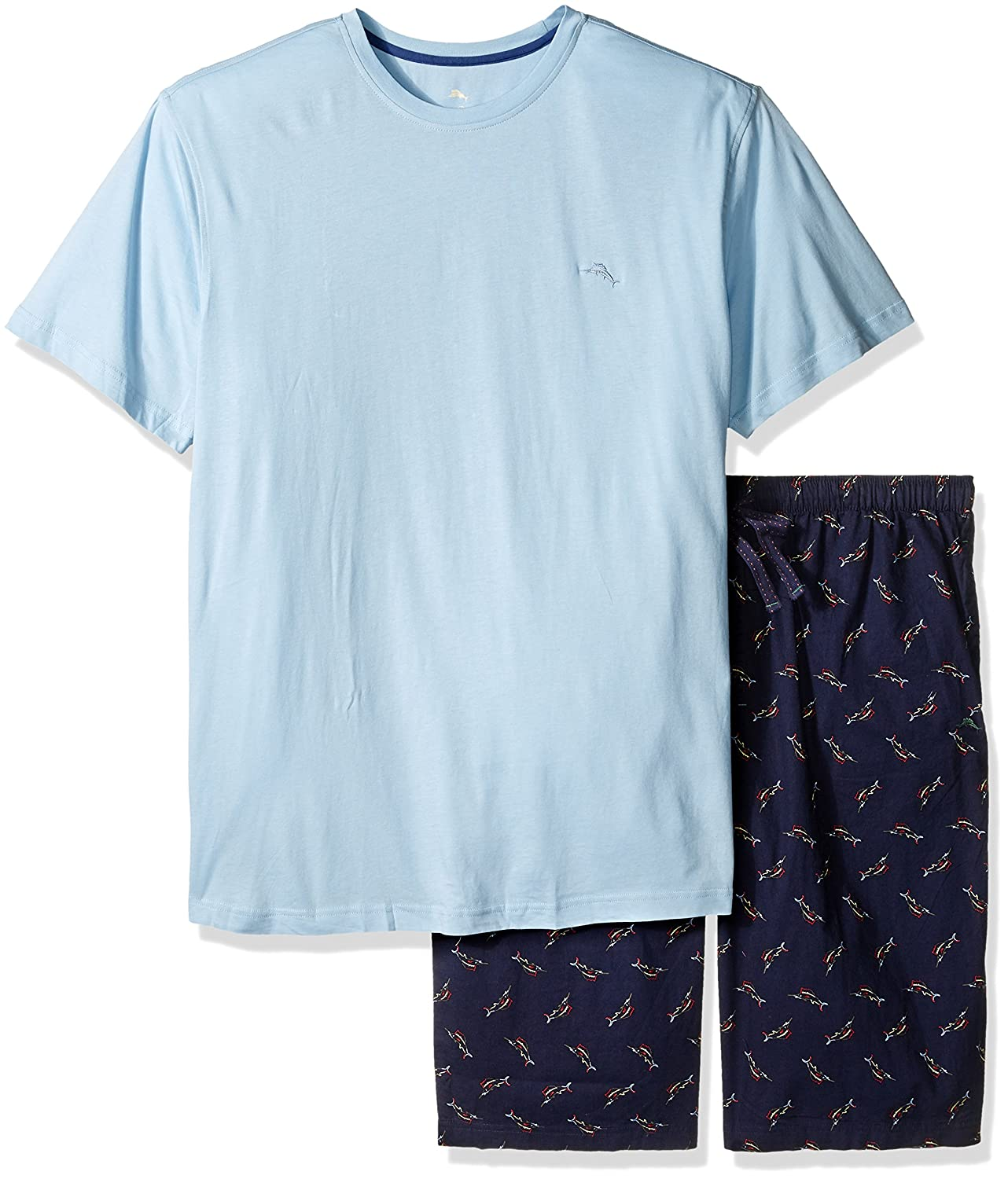 Tommy Bahama Men's Size Woven Jam Knit Tee Set-Tall Tossed Multi Marlin Large 2111201XT