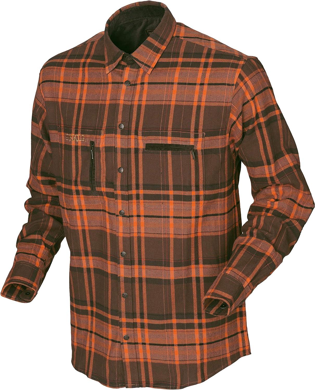 Härkila - Camisa de caza a cuadros de algodón para hombre – Camisa de franela de manga larga exterior – Trekking y senderismo para hombres: Amazon.es: Deportes y aire libre
