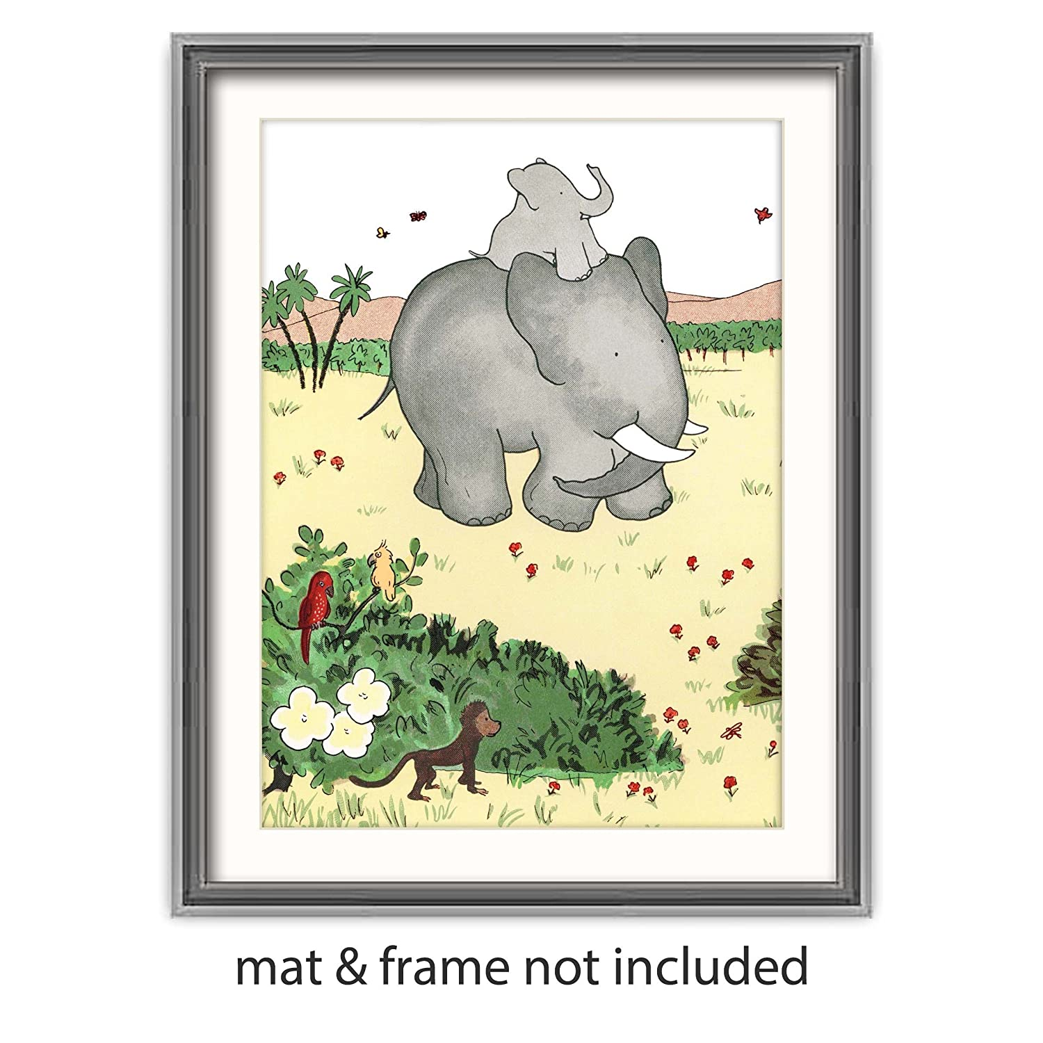 Amazon.com: Babar the Elephant Art (Childrens Wall Decor, Baby ...