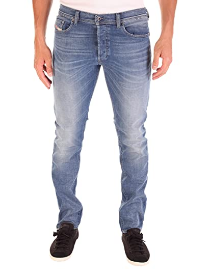 5284a248 Diesel Mens Mens Tepphar Slim Carrot Leg Jeans in Denim - 32R: Diesel:  Amazon.co.uk: Clothing