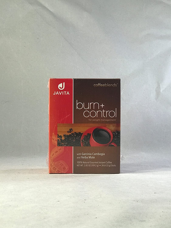 Burn + Control Weightloss Gourmet Instant Coffee by Javita - 24 Sticks, Net Wt. 3.81 Ounce Thailand