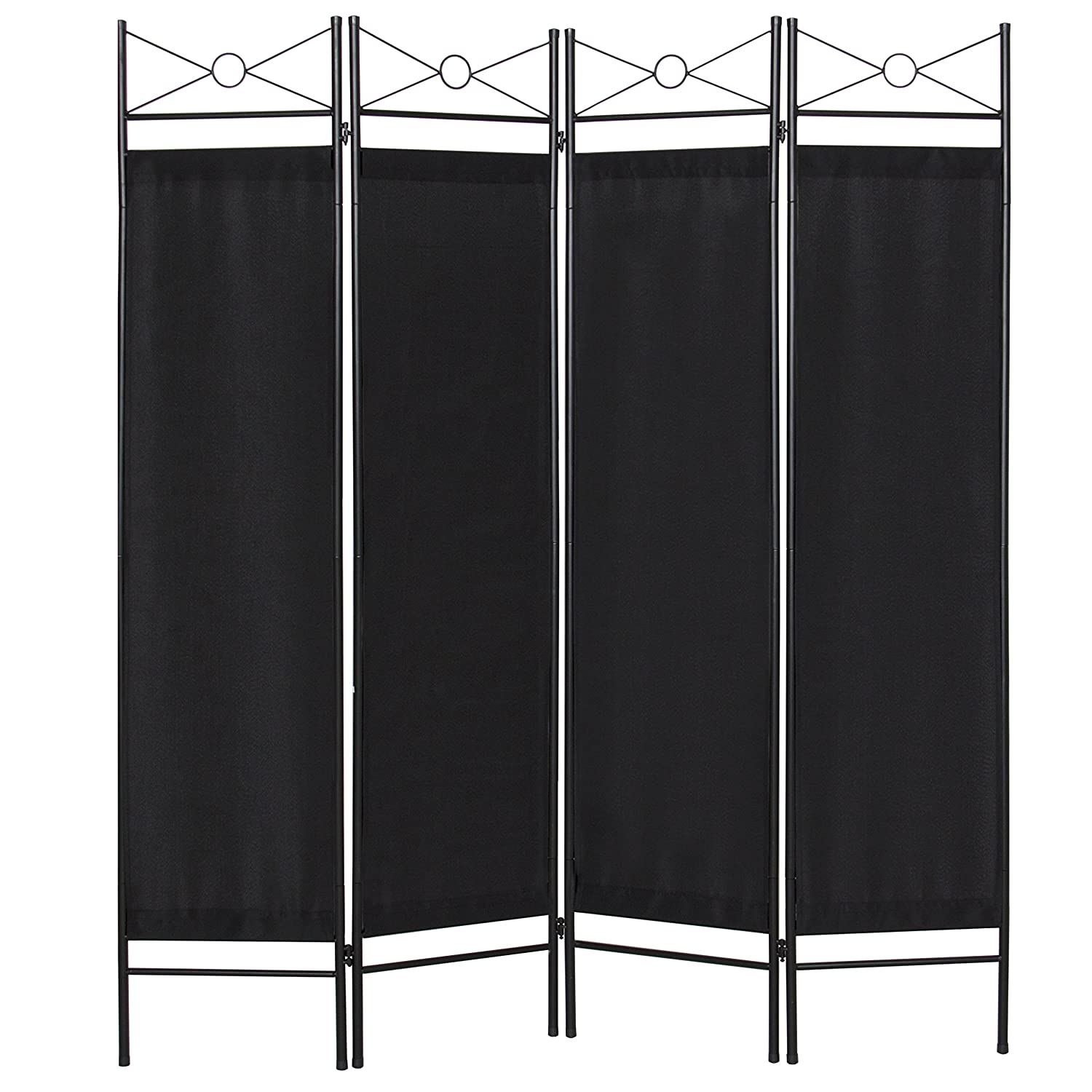 Best Choice Products Home Accents 4 Panel Room Divider-Black SKY3028