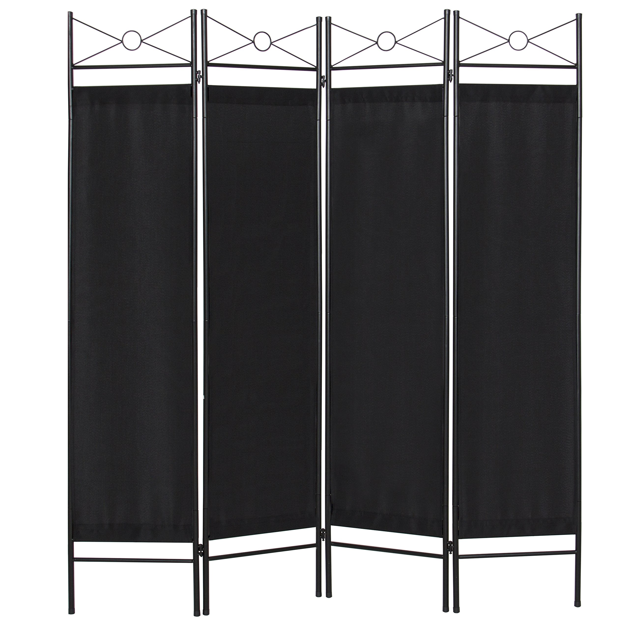 Best Choice Products 4-Panel Elegant Folding Home Accents Privacy Room Divider - Black by Best Choice Products
