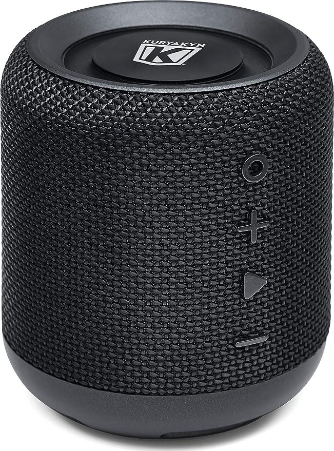 Amazon.com: Kuryakyn 1952 Sidekix Plus Portable Waterproof Dual Bluetooth Speaker with 150 Ft Range, Passive Radiator Bass Enhancer and FM Radio: Automotive