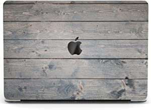 Wonder Wild Case Compatible with MacBook Air 13 inch Pro 15 2019 2018 Retina 12 11 Apple Hard Mac Protective Cover 2017 16 2020 Plastic Laptop Print Gray Planks Wood Grain Pattern Minimal Texture