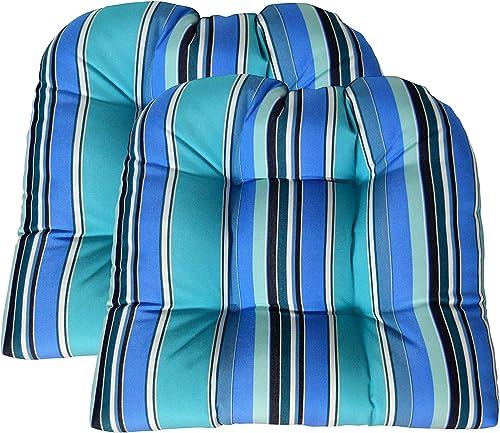 Set of 2 Sunbrella Dolce Oasis Wicker Chair Cushion