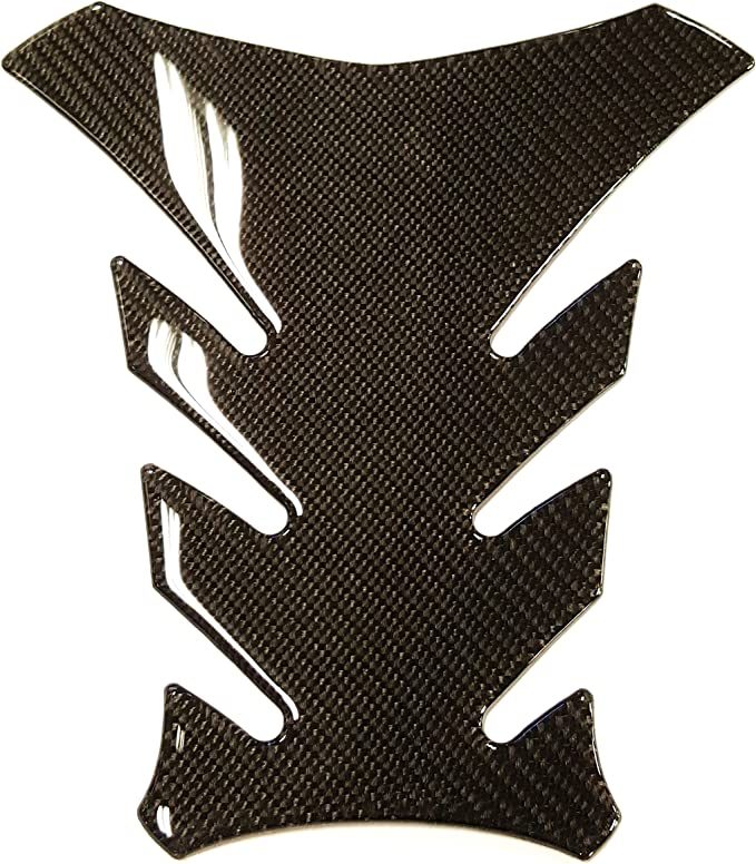9 inches Real Carbon Fiber 3D Sticker Vinyl Decal Emblem Protection Gas Tank Pad /& Cap Cover For Yamaha FZ07 FZ09 MT07 MT09