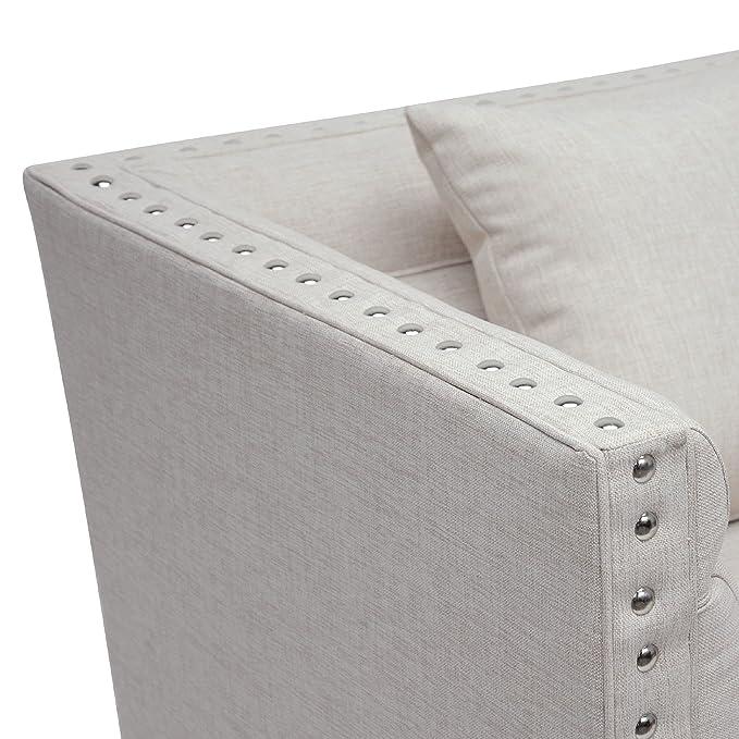 Brilliant Baxton Studio Stapleton Linen Modern Accent Chair Grey Spiritservingveterans Wood Chair Design Ideas Spiritservingveteransorg