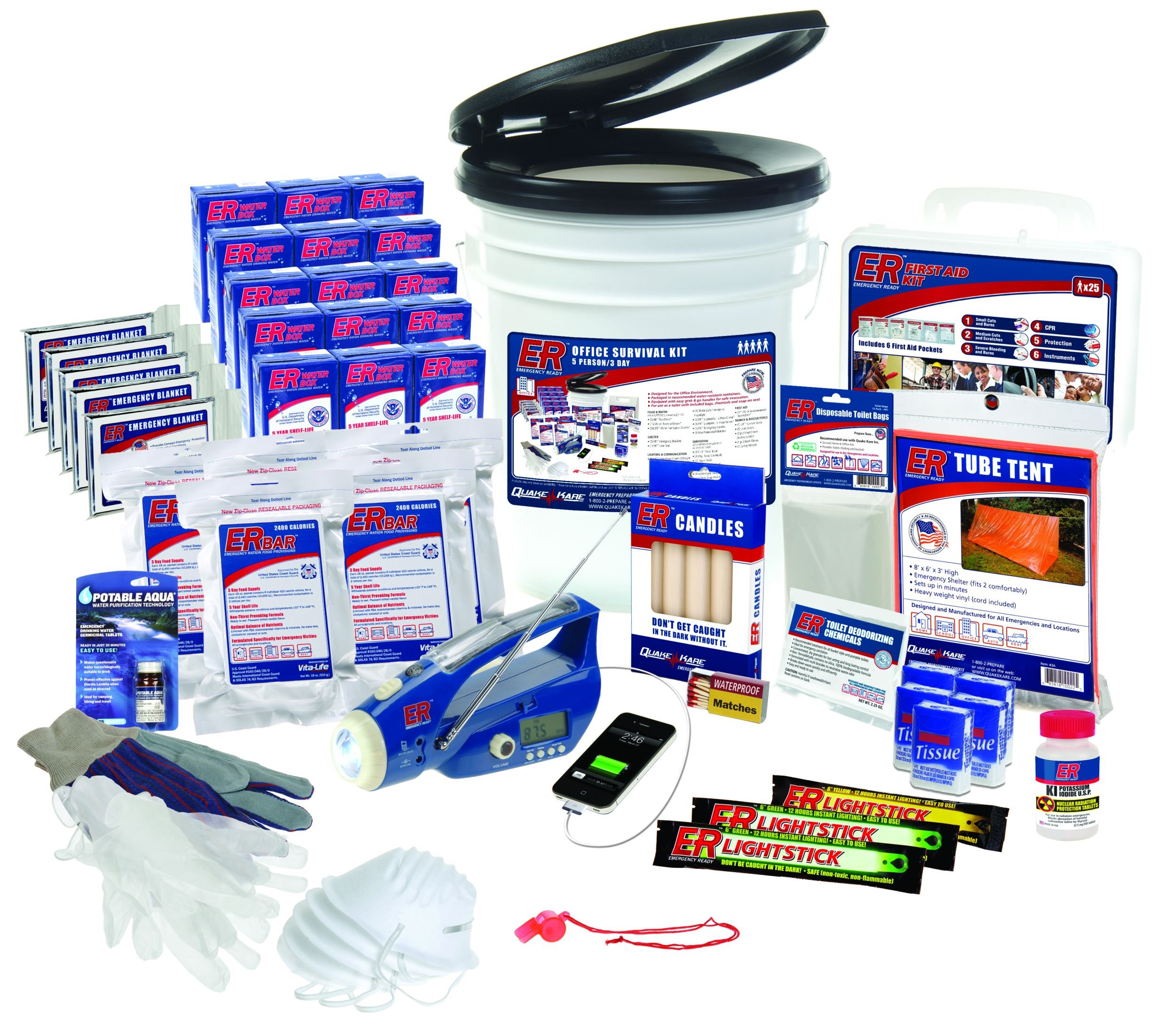 ER Emergency Ready SK5R 5 Person Ultimate Deluxe Survival Kit