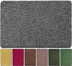 "BEAU JARDIN Floor Mats Commercial Super Absorbs Mud Doormat 47""x28"" Latex Backing Non Slip for Front Inside Dirt Trapper Mats Cotton Entrance Rug Shoes Scraper Machine Washable Rug Carpet"