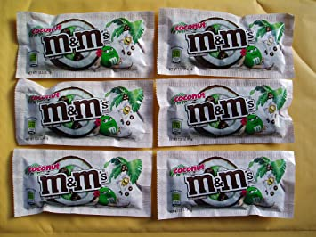 M&M's Coconut Milk Chocolate Candies, 1 5-Ounce Packages (Pack of 6)