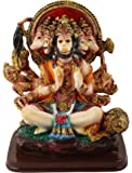 SUNNY CORPS Panchamukhi Hanuman Idol (Multicolour)