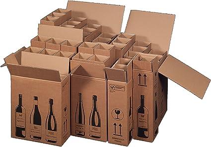 5 x Cajas de Cartón de botellas de vino de cartón para 6 botellas de vino (PTZ Certificado – DHL): Amazon.es: Oficina y papelería