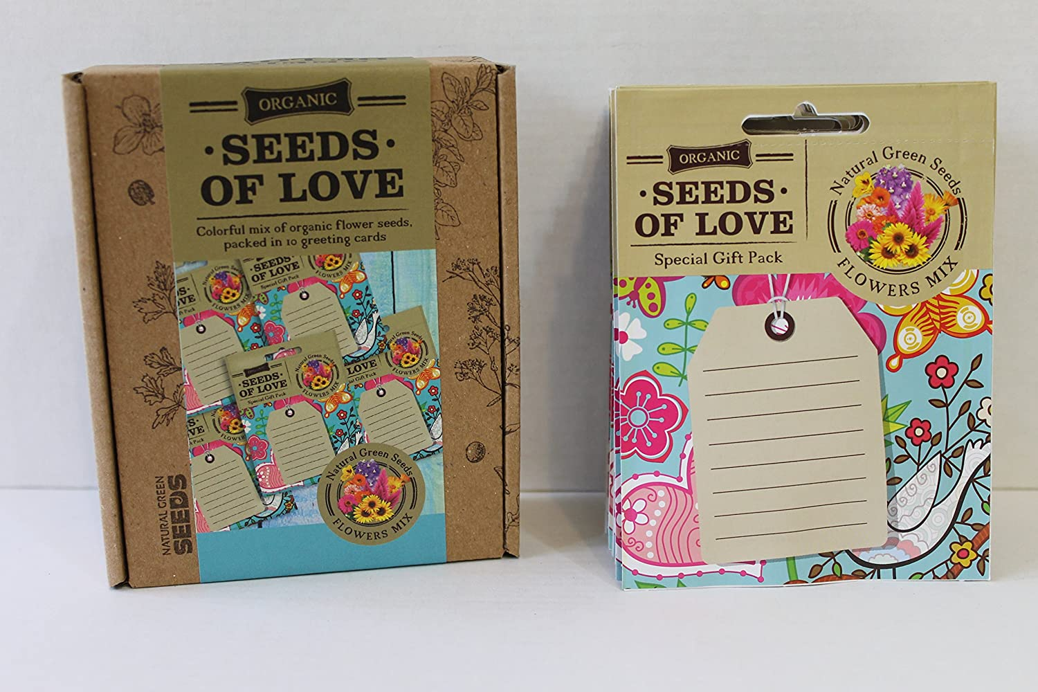 Amazon.com : GREETING CARDS SEED PACKETS, Organic Non GMO Flower ...