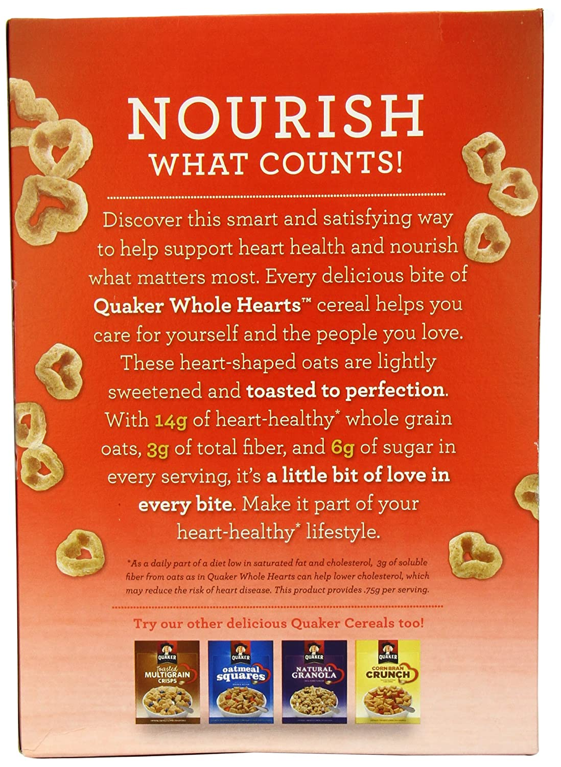 Quaker Whole Corazones, 12.3-ounce Caja de cereales: Amazon ...
