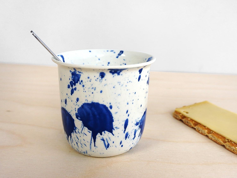Mancha Taza de Café - Holandés - Diseño - Cerámica - Inicio - Living - colorido - lúdico - Hecho a mano en los Países Bajos - Regalo - Él – Su - Lorier