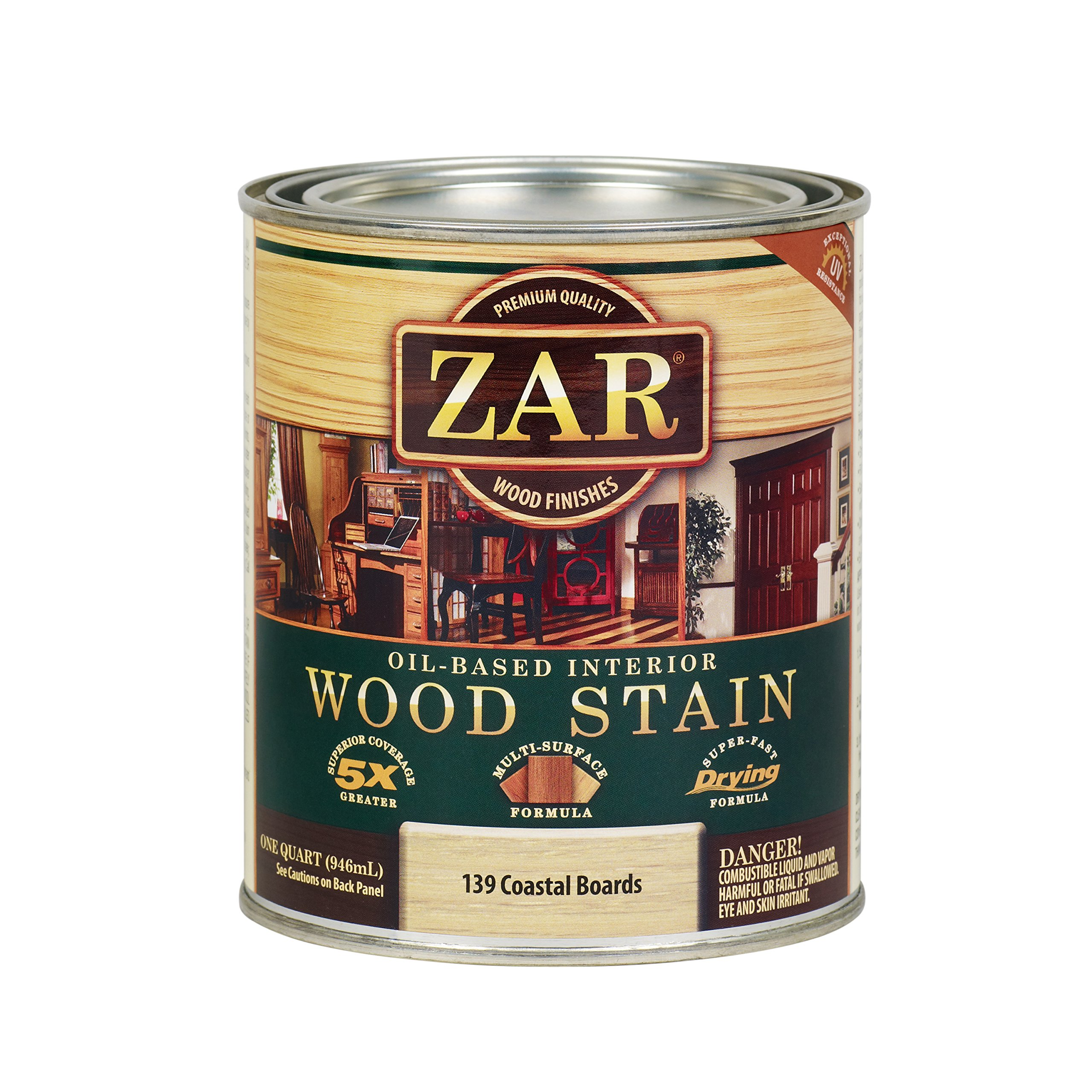 ZAR 13912 Country Coastal Boards Wood Stain, White
