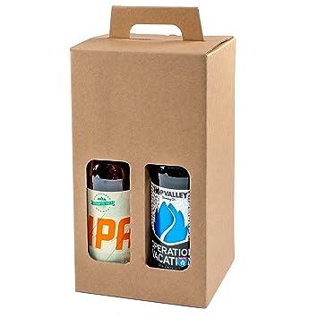 Pack de 20 – 4 cajas de regalo para botellas de cerveza de 330 ml (