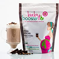 Prenatal Vitamin Supplement Shake - Baby Booster Kona Mocha - 1lb bag - OBGYN Approved...