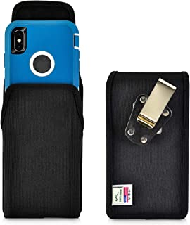 product image for Turtleback Belt Clip Case Designed for iPhone 11 Pro Max (2019) / XS Max (2018) Fits with OB Defender, Vertical Holster Black Nylon Pouch with Heavy Duty Rotating Belt Clip, Made in USA