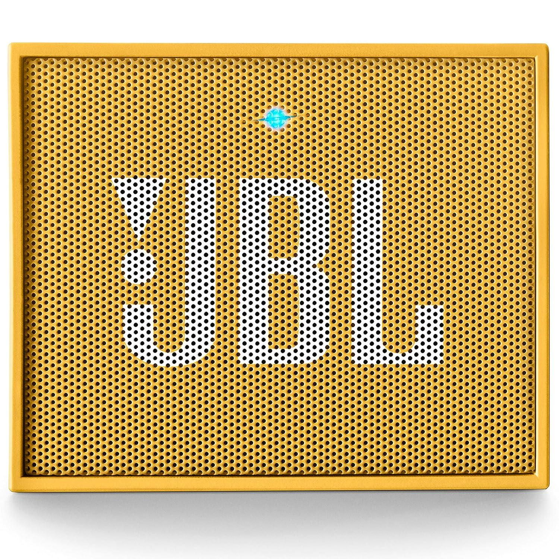 JBL Go - Altavoz portátil para Smartphones, Tablets y Dispositivos MP3(3 W, Bluetooth, Recargable, AUX, 5 Horas), Color Amarillo
