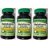 Amazon.com: Natures Measure Melatonin 3mg 30 tablets with Vitamin B ...