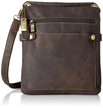 Amazon.com | Visconti Distressed Leather Fashion Slim Cross-Body ...