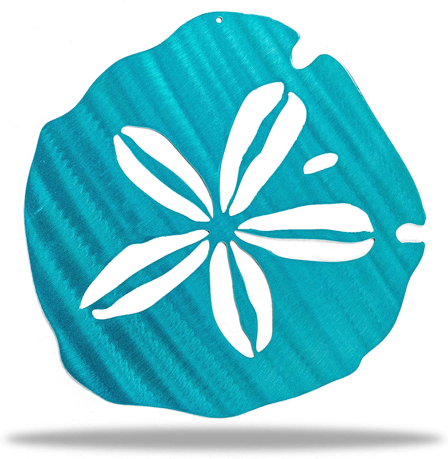 Riverside Designs Sand Dollar Metal Wall Decor | Weather Resistant | 11.5 inches x 12 inches | Steel Sign | Coastal Beach Decor (Translucent Teal)