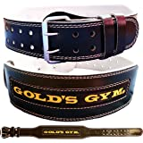 Golds Gym Leather Lumbar Belt 4""