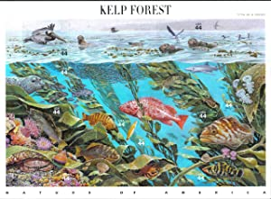 Kelp Forest Nature of America Sheet of Ten 44 Cent Stamps Scott 4423 By USPS