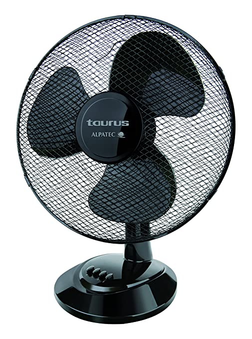 Taurus Ventilador Sobremesa PONENT 16 Elegance, 41 W, 3 Velocidades, Negro