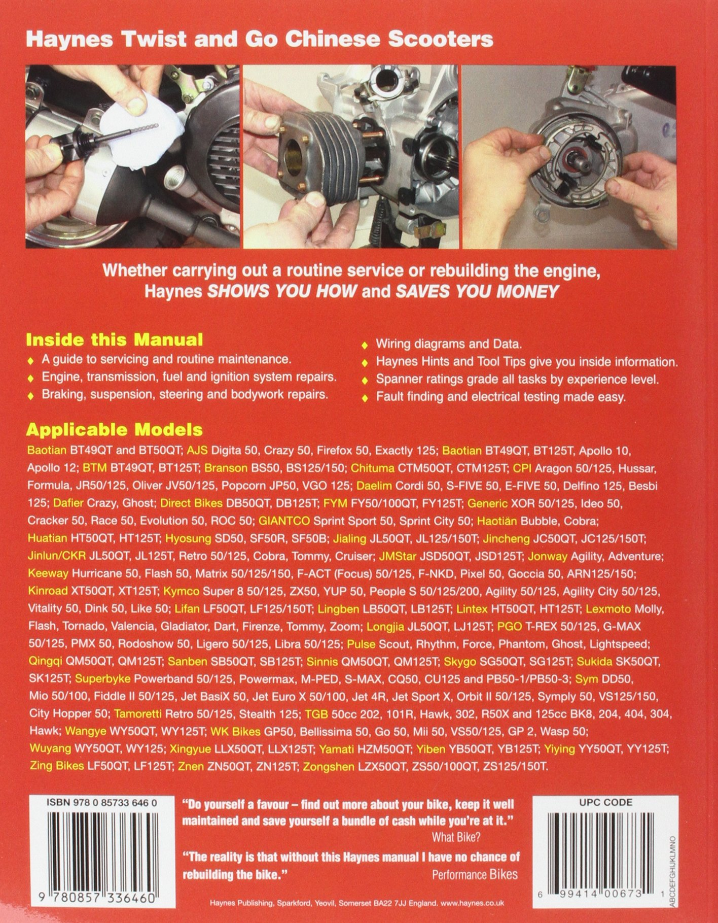 Chinese Taiwanese Korean Scooters 50cc 125cc And 150cc Haynes Scooter Ignition Wiring Diagram Service Repair Manual Anon 9780857336460 Books