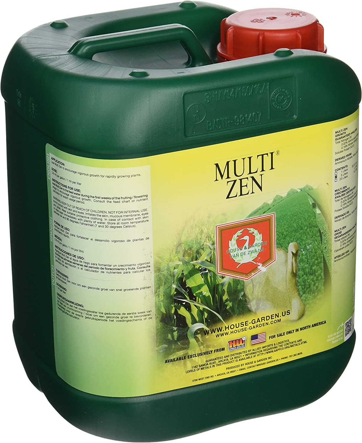 House & Garden HGMZN05L Multi Zen Fertilizer, 5 L