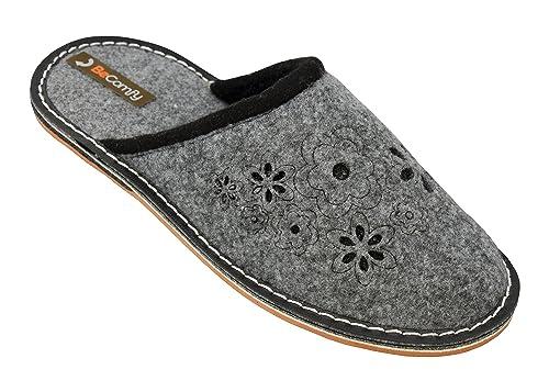 Becomfy Ligero cómodos hogar Zapatos de mujer para E Zapatillas casa para el lJcT5FK1u3