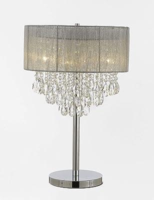 Ok 5126t 35 Inch Rosie Crystal Table Lamp Amazon Com