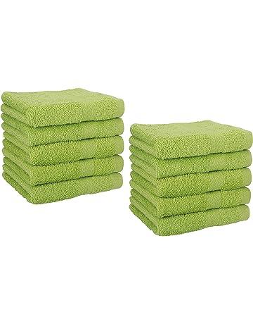 Betz 10 Stück Seiftücher Seiftuch Seiflappen PALERMO 30x30cm anthrazit /& grün